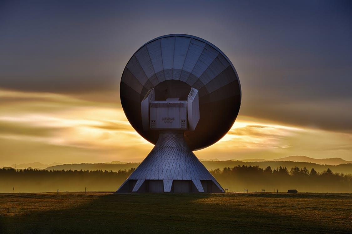 Remote sensing using a big satellite